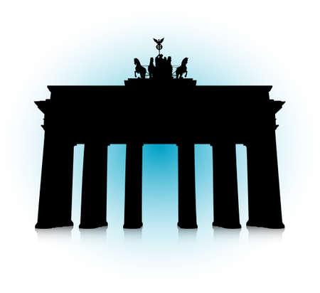 portones: Una ilustraci�n vectorial abstracta de la puerta de Brandeburgo.
