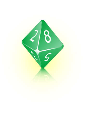An abstract vector illustration of an 8-sided die.