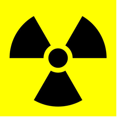 An abstract vector illustration of a radiation sign.