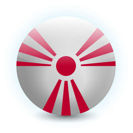 trefoil: An abstract vector illustration of a radiation sign, combined with the Rising Sun flag of Japan.