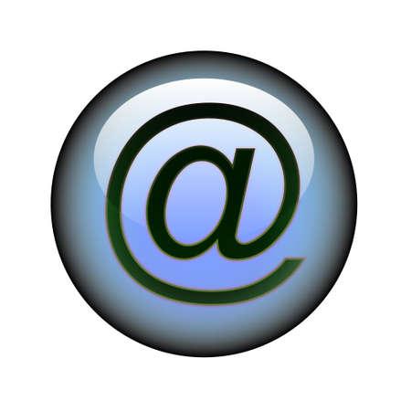 Pulsante circolare posta web.