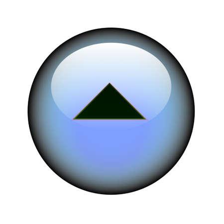 Una freccia circolare sul tasto del web. Vettoriali
