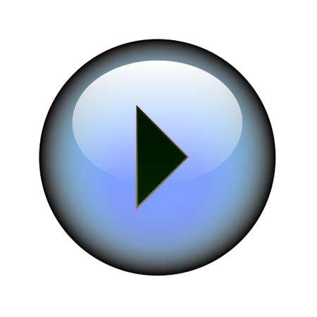 A circular arrow right web button. Illustration