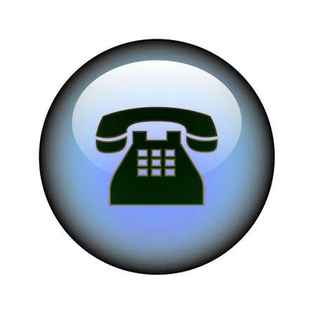 A circular phone web button. Stock Vector - 9187735