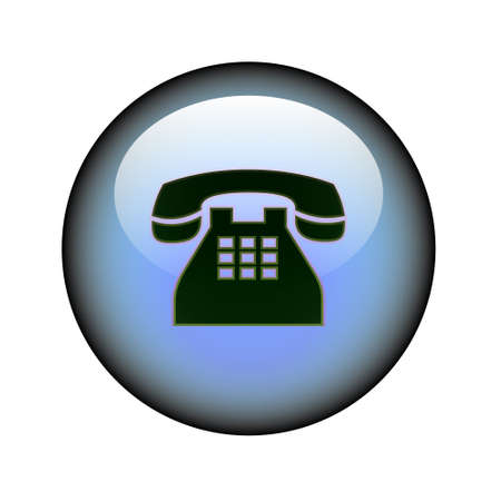 Un pulsante di web telefono circolare.