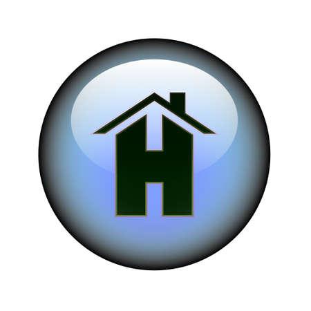 web presence internet presence: A circular home web button.