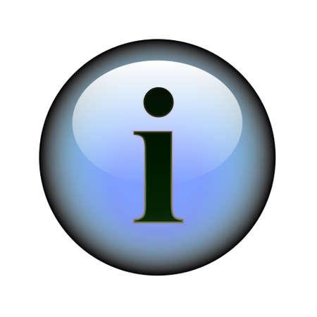 A circular information web button. Illustration