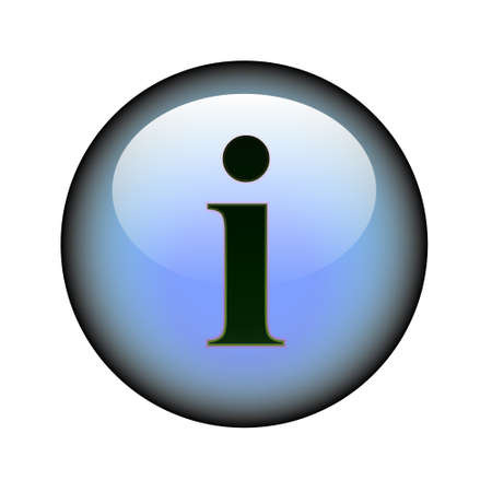 i net: A circular information web button. Illustration