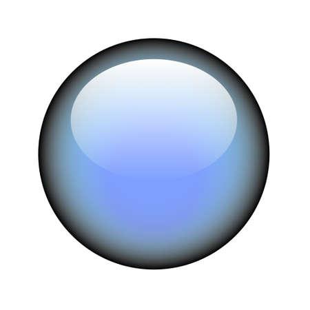 A circular blank web button. Illustration