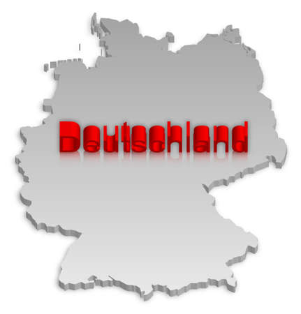 Una semplice mappa tridimensionale della Germania. Vettoriali