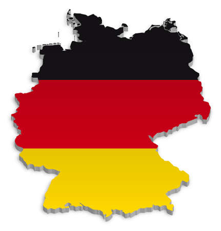 germany flag: A simple 3D map of Germany.