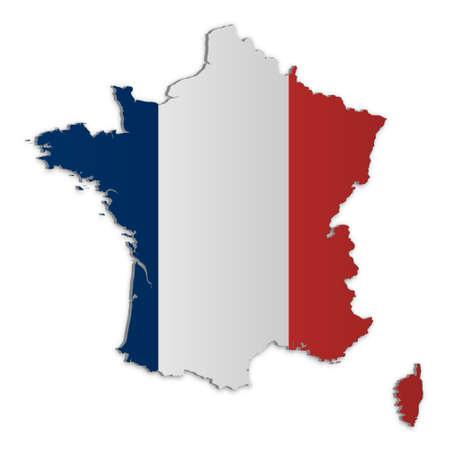 A simple 3D map of France. Stock Vector - 9187737