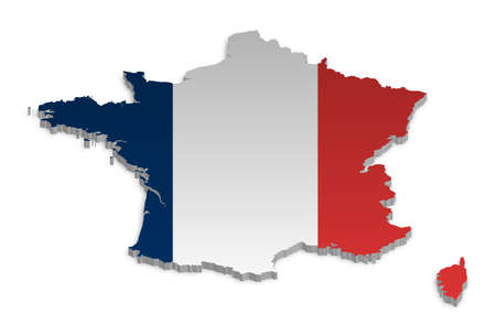 A simple 3D map of France. Stock Vector - 9187741