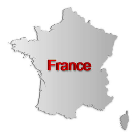 A simple 3D map of France. Vector