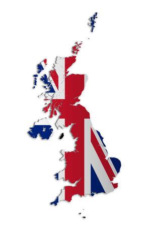 Una semplice mappa 3D del Regno Unito e le dipendenze della corona.