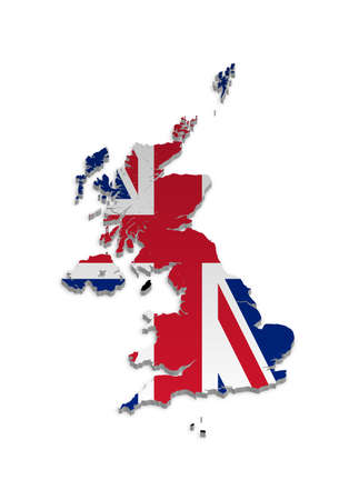 A simple 3D map of the UK and the Crown Dependencies. Stock Vector - 9187764