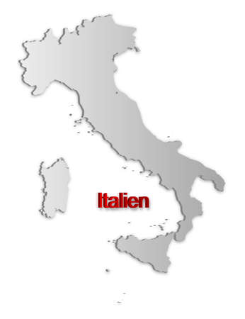 A simple 3D map of Italy. Stock Vector - 9187750