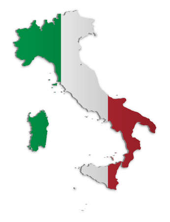 A simple 3D map of Italy. Stock Vector - 9187742