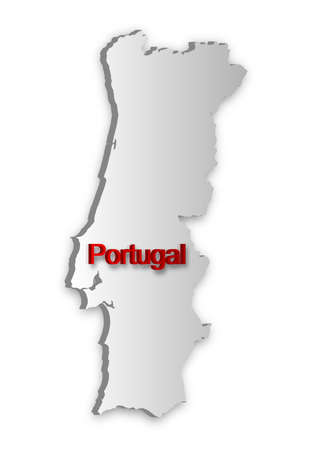 A simple 3D map of Portugal. Stock Vector - 9417654