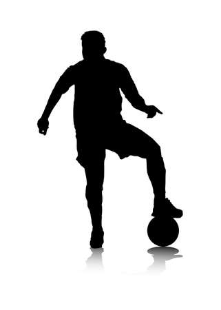 pro: An abstract vector illustration of a (female) striker during a block. Illustration