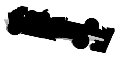 An abstract vector illustration of a racing car.