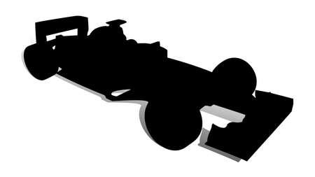 Un Abstract illustrazione vettoriale di una macchina da corsa.