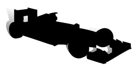 formula one: An abstract vector illustration of a racing car.