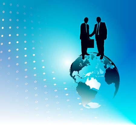 Uno sfondo astratto grafica di affari globale