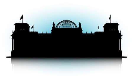 Una illustrazione vettoriale astratta del Reichstag a Berlino