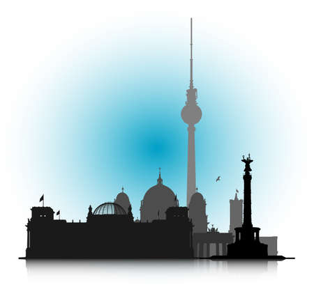 An abstract vector illustration of the Cityscape of Berlin  Vector