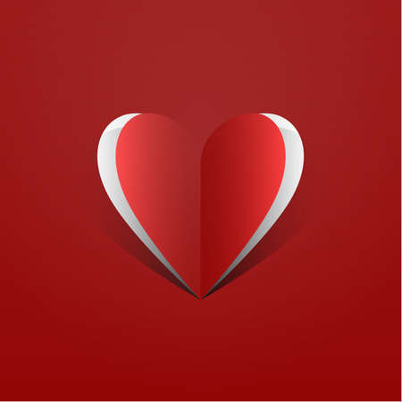 An abstract vector illustration of a loving heart  Illustration