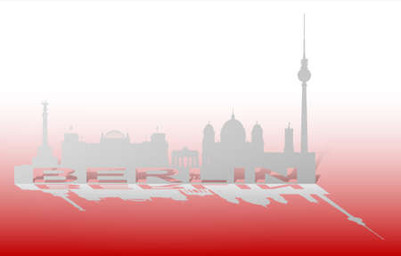 An abstract vector illustration of the Cityscape of Berlin