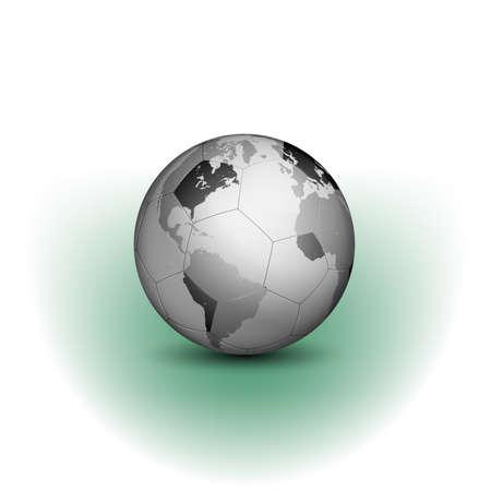 Una illustrazione vettoriale astratta di calcio globale e campionati Archivio Fotografico