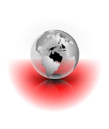 globe terrestre dessin: Une illustration abstraite d'un globe de cristal Banque d'images