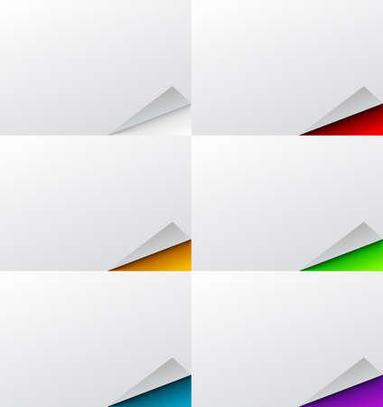 A background set of abstract, folded pages