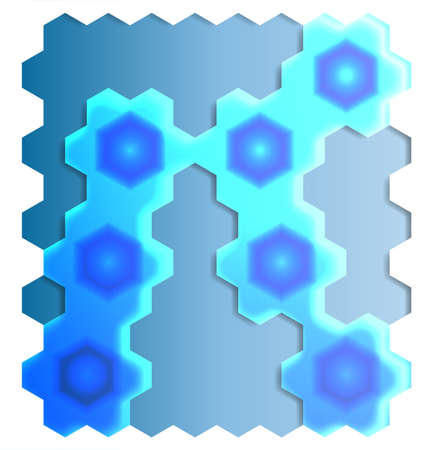An abstract background graphic with hexagons
