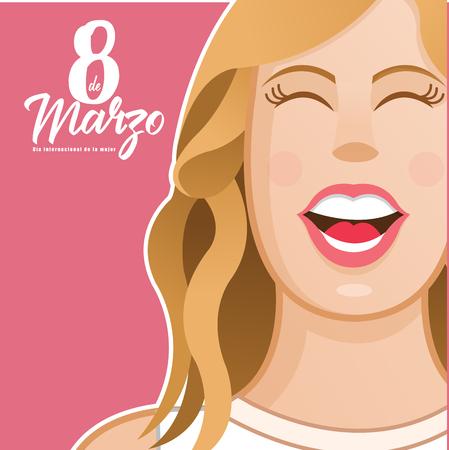 international women day, vector, illustration, march, happy, celebration