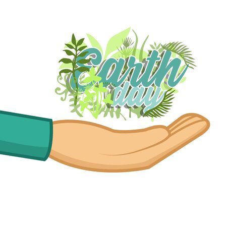 the earth day, illustration, vector, enviroment,save, reciclyng