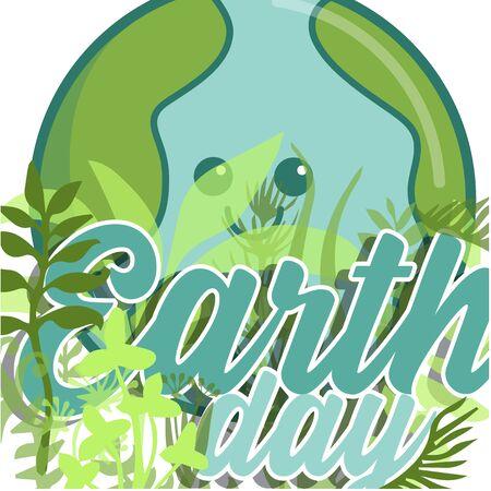 the earth day Ilustração