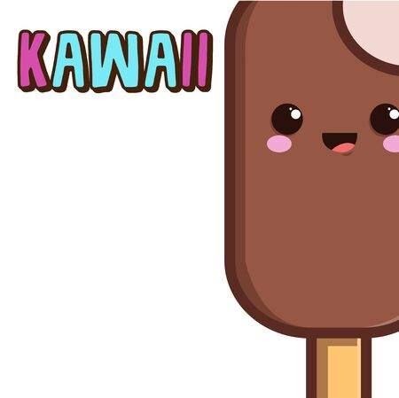kawaii chocolate palette Illustration