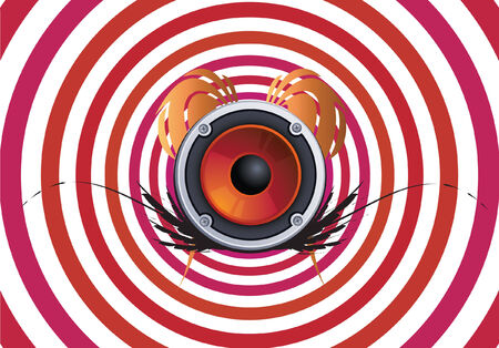 hypnotizing: hypno music Illustration