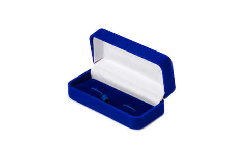 jewerly: Opened present box for jewerly on white background
