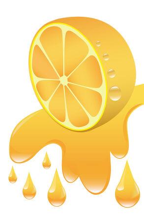 orange cut: corte de naranja que fluye hacia abajo y jugo de naranja