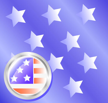 bellow: vector drawing American star-striped flag