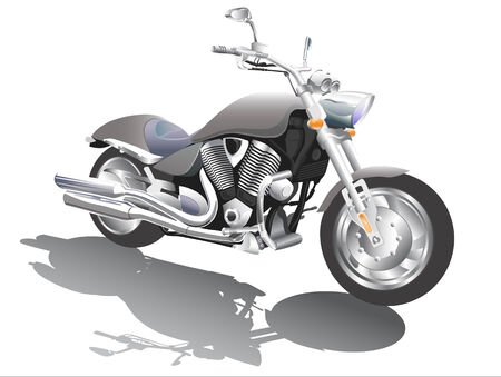 vector picture quality with a large number of road motorcycle parts Vector