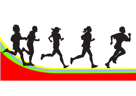 vector drawing silhouettes on the sports theme. file saved in format for the show 8yu easily edited. Stock Vector - 3832844