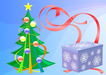 christma: vector drawing on the theme of celebrating the new year. saved in eps format for illustrator 8. easily edited.