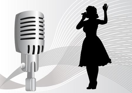 vector drawing singer with a microphone. file saved in eps format for illustrator 8.legko edited. Vector