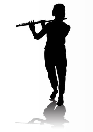 flutes: vectors musician. Saved in the for Illustrator versions 8 Illustration