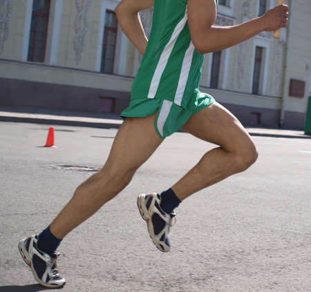Color photo competition on the run. Summer sports    photo